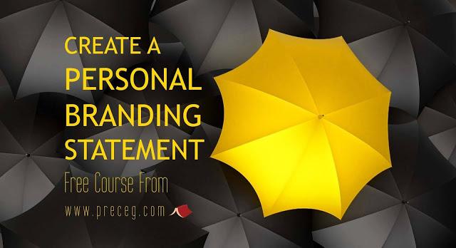 كورسات مجانية: كورس personal branding statement كامل!