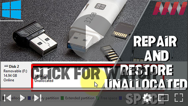 How to Repair and Restore Unallocated Space on a USB/SD Card