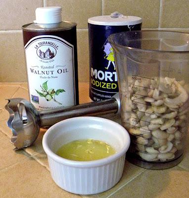 Cashew cream ingredients
