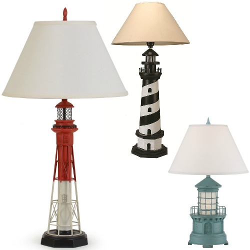 Lighthouse Lamps - Coastal Decor Ideas and Interior Design ...