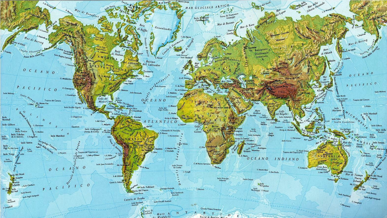 Impariamo insieme cartina geografica del mondo for Design e rimodellamento della casa sud occidentale