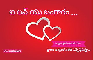 Telugu Love proposal love you bangaram ఐ లవ్ యు బంగారం