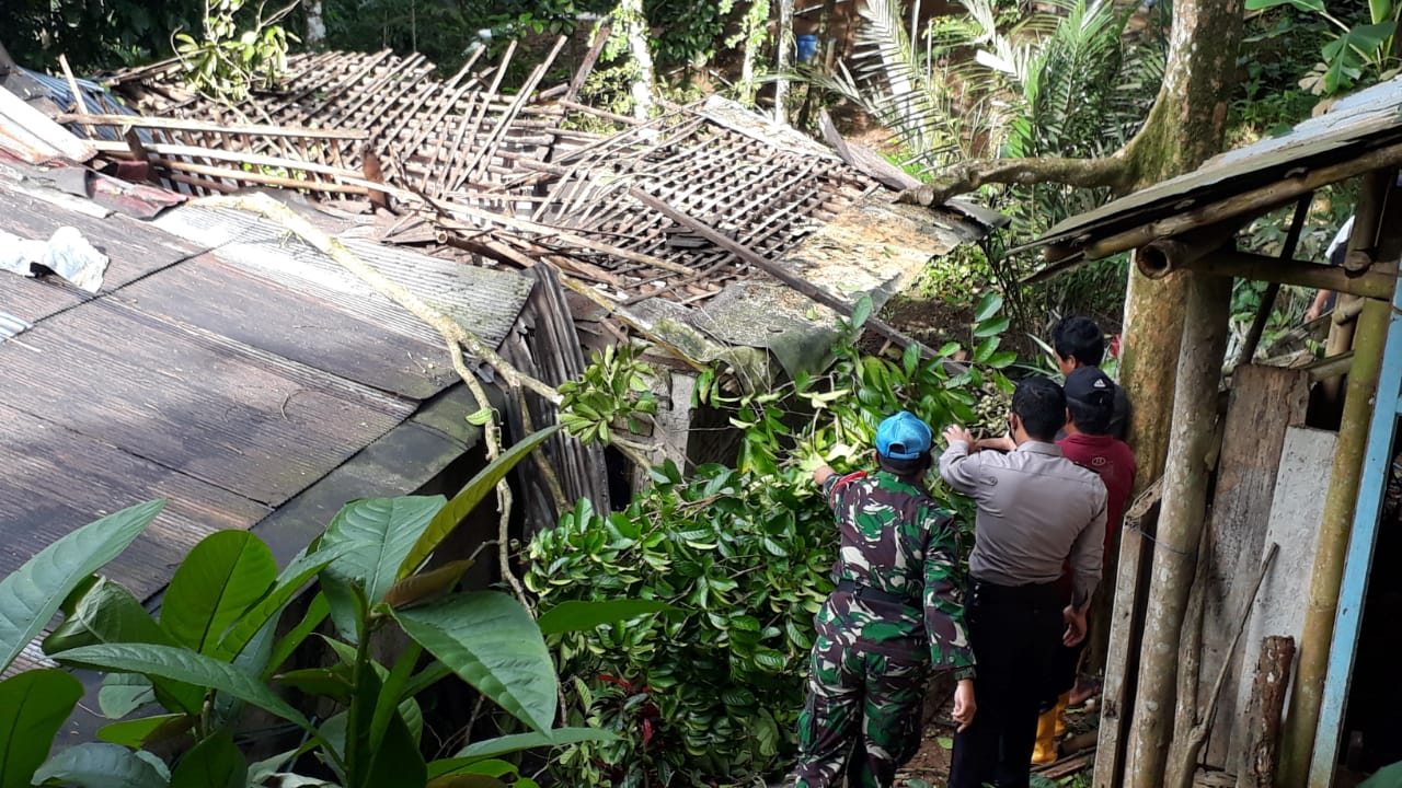 Hujan Angin Terjang Bobotsari, Satu Rumah Rusak Tertimpa Pohon Duku