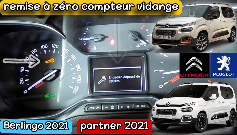 كيف تقوم بإعادة تعيين مؤشر تغيير الزيت في سيارة - CITROËN Berlingo 2021