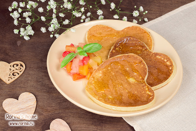Пышные панкейки на завтрак