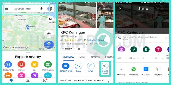 Cara Share Lokasi Tempat Lain di Whatsapp