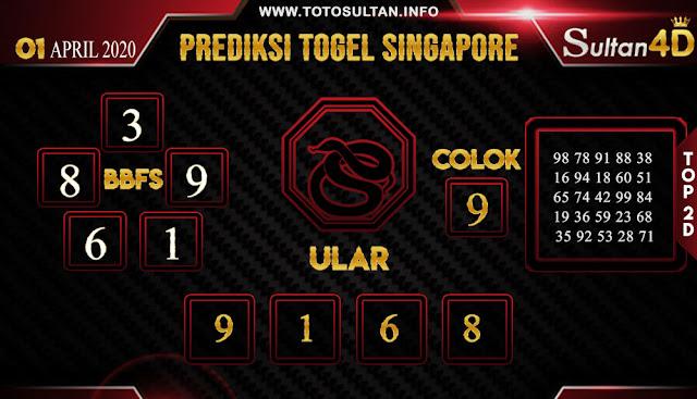 PREDIKSI TOGEL SINGAPORE SULTAN4D 01 APRIL 2020