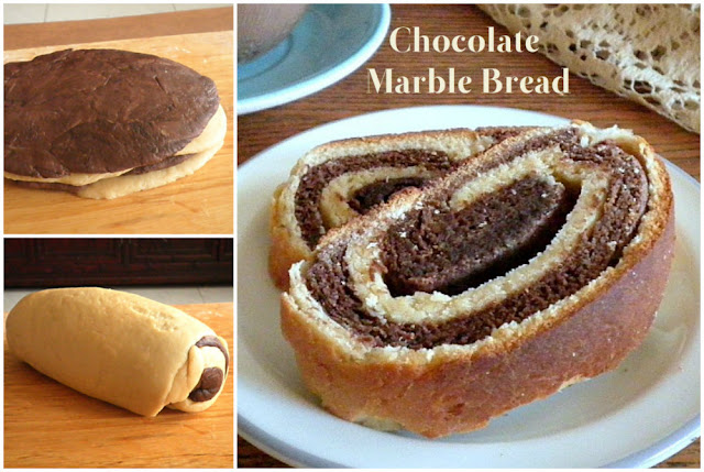Chocolate Marble Bread Recipe @ http://treatntrick.blogspot.com