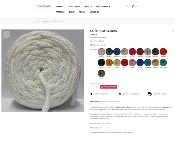 trapillo de algodón reciclado