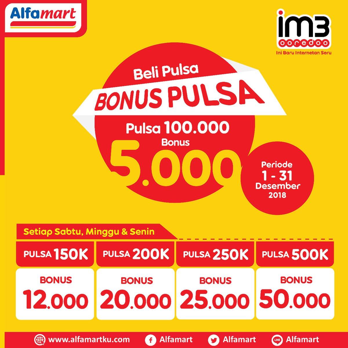 #Alfamat - Promo Bonus Pulsa s.d 50K Setiap Beli Pulsa Mulai 100K (s.d HARI INI)
