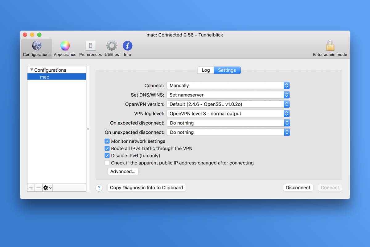 Come configurare OpenVPN su Mac