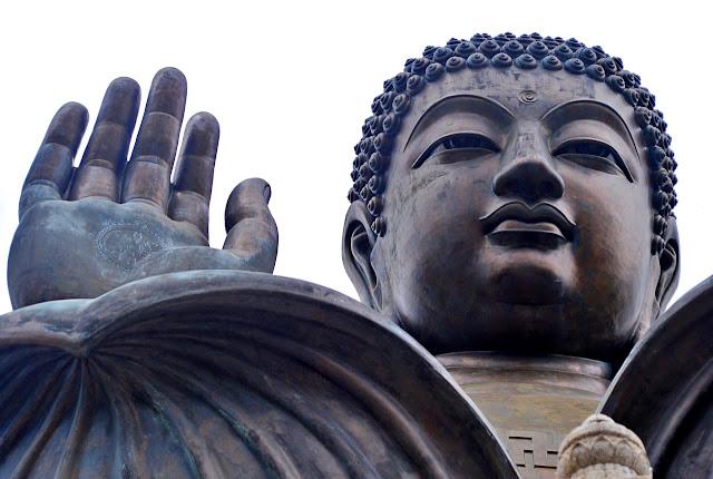 waving buddha at Tian Tan Buddha Hong Kong