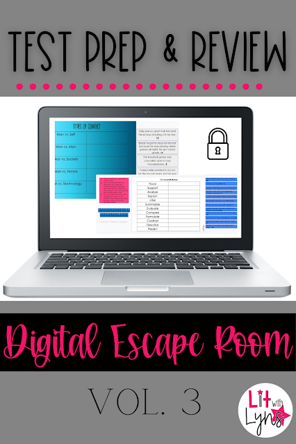 ELA Test Prep Digital Escape Room