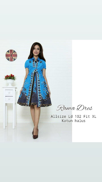 Dress-Batik-Rama-Biru-Turkis