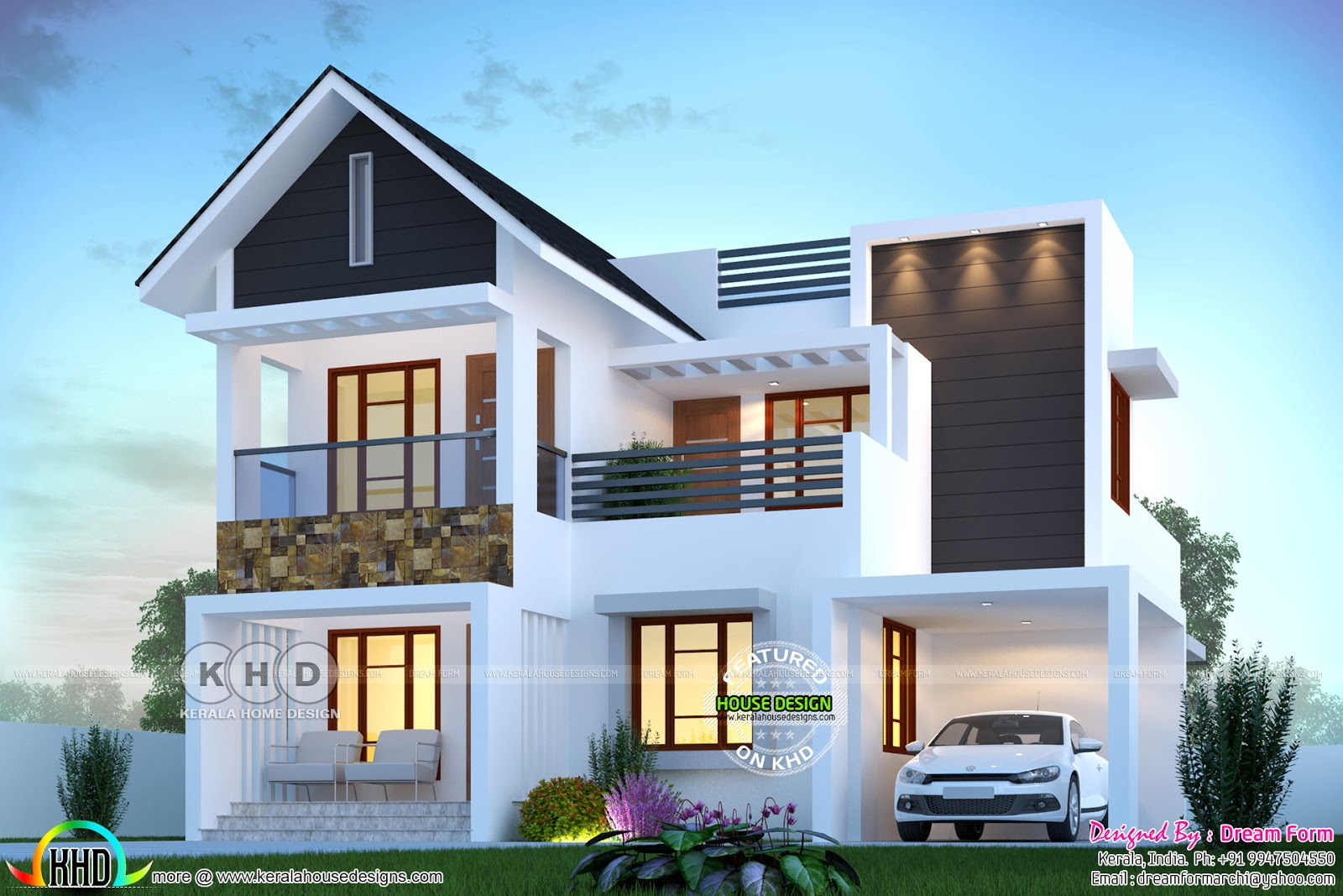 1830 Sq Ft 4 Bedroom Beautiful Modern House Kerala Home