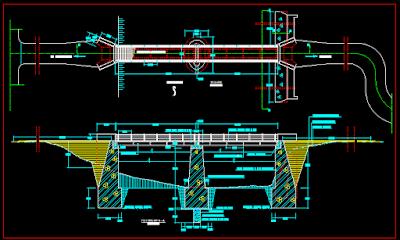 Gambar Jembatan Dwg Lengkap Dengan Analisis Struktur