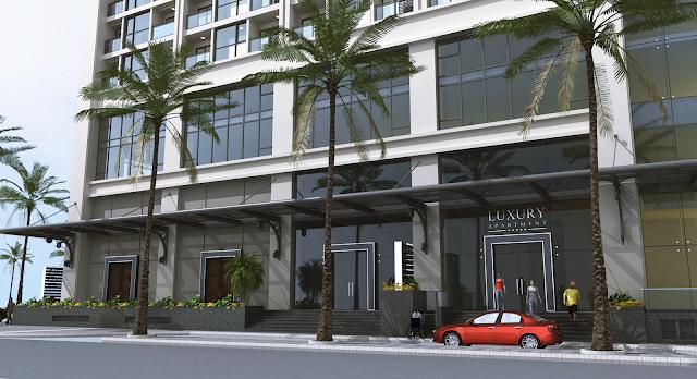 Sảnh vào của dự án Luxury Apartment