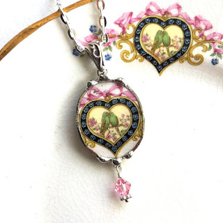 Broken china Jewelry by Laura Love, Emmaus PA.