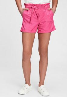 Дамски къс Панталон с висока талия и връзка - Gap