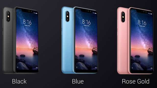 Xiaomi Redmi Note 6 Pro Color Option