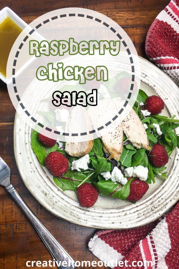 Chicken salad ideas for dinner - Raspberry chicken salad that constitutes a balanced and healthy dinner for your family  #easydinner ideas #chickensalad
