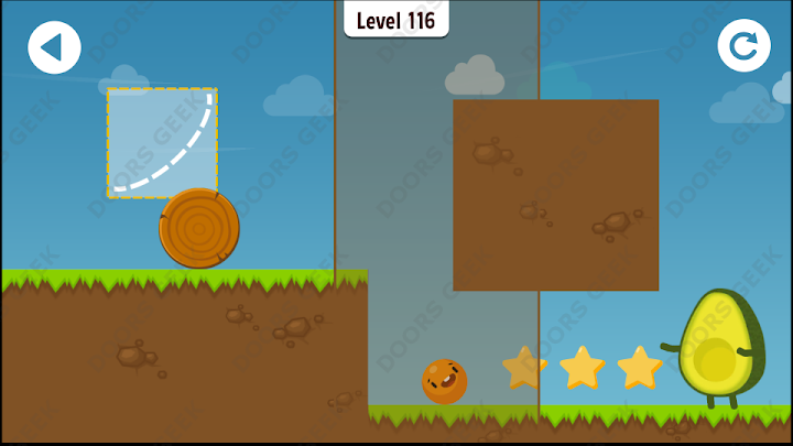 Where's My Avocado? Level 116 Solution, Cheats, Walkthrough, 3 Stars for Android, iPhone, iPad and iPod