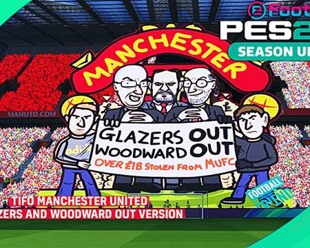 PES 2017 Tifo Man United Glazers And Woodward Out