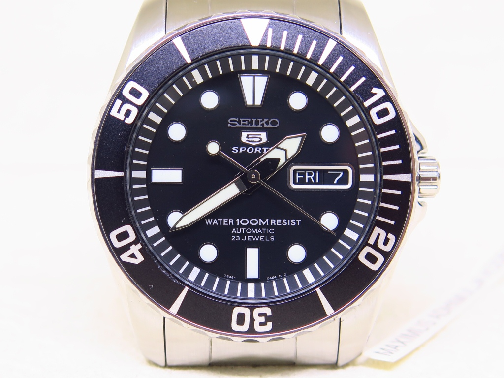 SEIKO 5 SPORTS URCHIN BLACK DIAL - AUTOMATIC 7S36C