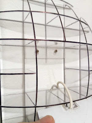 Building the spherical shelf - opening space for the clock enclosure