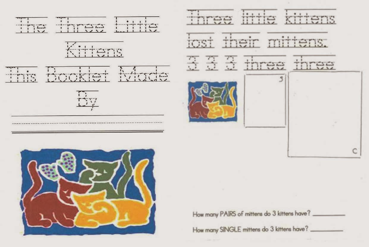 Classroom Freebies Three Little Kittens Nursery Rhyme