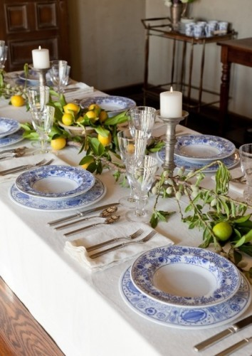 Setting the perfect summer table.....and a tabletop ...