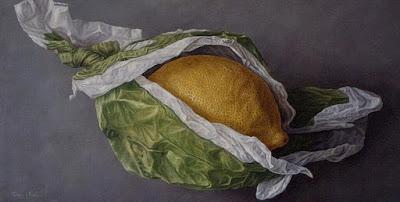 limones pintados al oleo