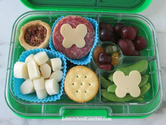 Butterfly themed lunchables in leak-proof Yumbox