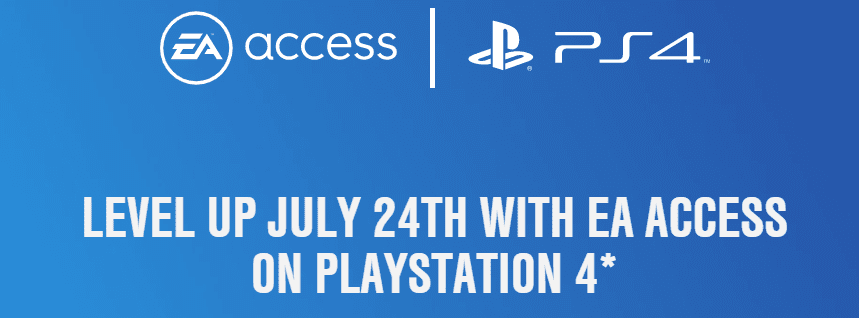 EA Access Coming To PS4 On July 24