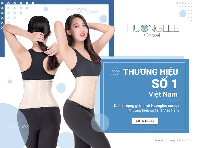 đai nịt bụng huonglee thương hiệu số 1 việt nam