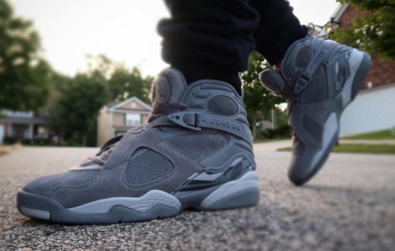 b168e260a40e Air Jordan 8 Cool Grey Sneaker Available ( Detailed Look + Release Info)