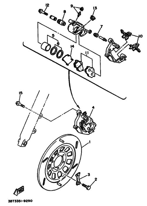 Yamaha Virago: Kočnice