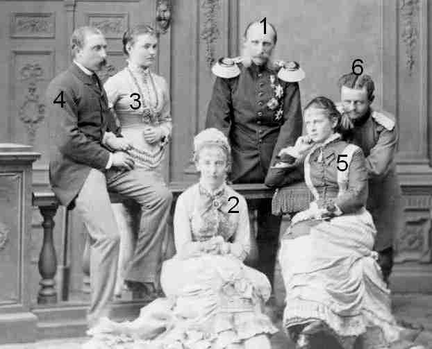 Les filles du prince Friedrich Karl de Prusse 1828-1885