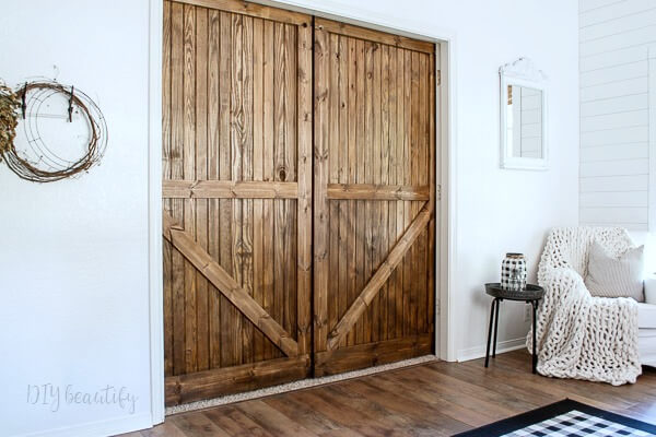 back side of barn doors
