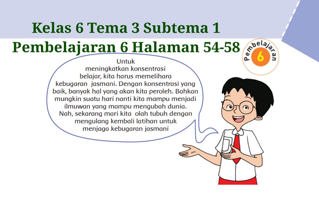 Kunci Jawaban Buku Tematik Kelas 6 Tema 3 Halaman 54 55 56 57 58 Koesrow