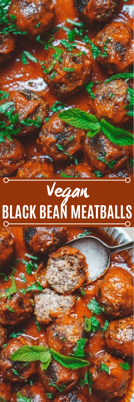 Vegan BBQ Black Bean Meatballs #vegetarian #dinner