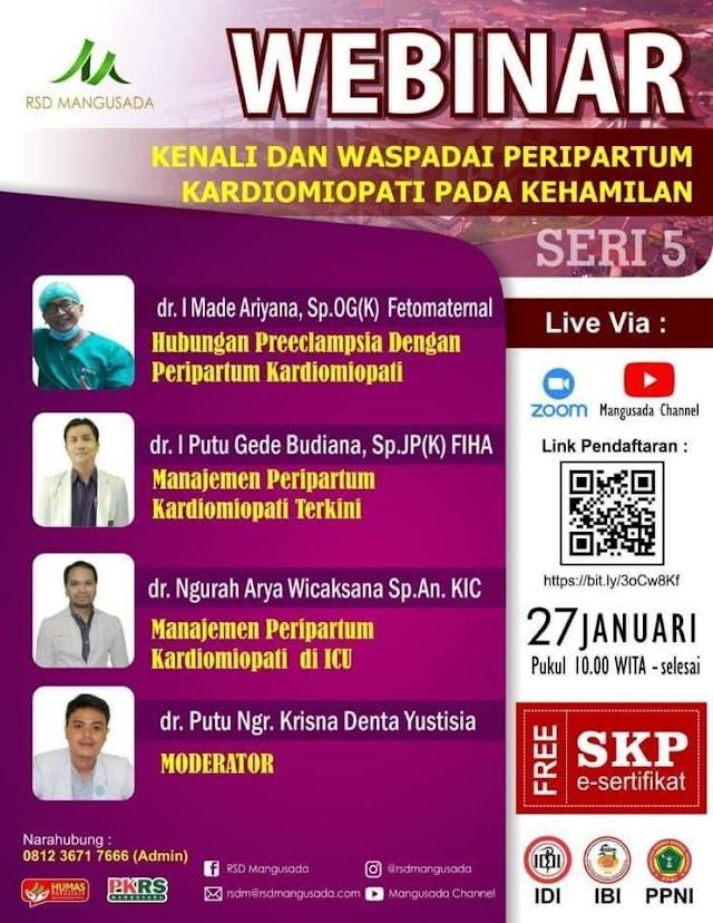 """Gratis SKP IDI Webinar """"Kenali dan Waspdai Peripartum Kardiomiopati pada Kehamilan"""""""