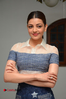 Actress Kajal Agarwal Latest Stills at Khaidi No 150 Movie Interview  0136.JPG