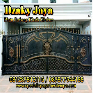 Contoh model pintu gerbang besi tempa klasik di Bandung