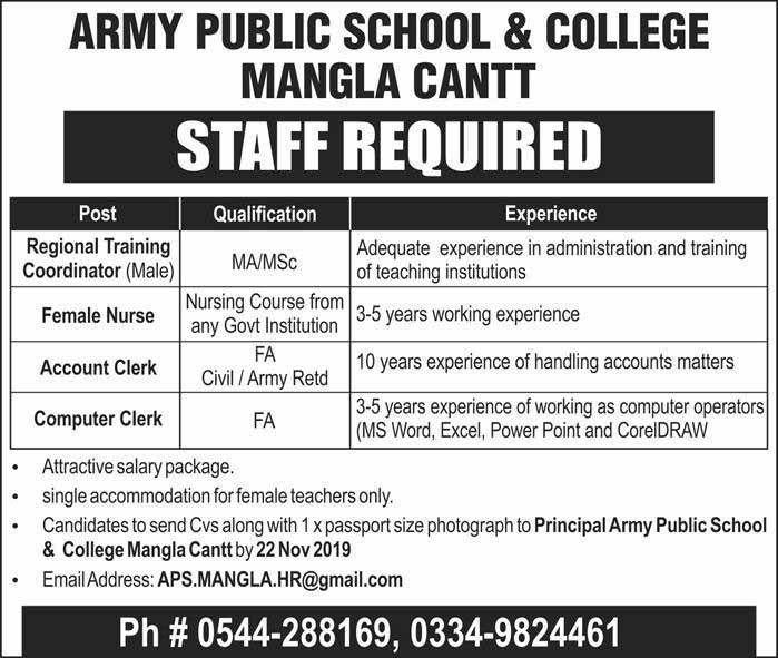 Jobs in Army Public School & College