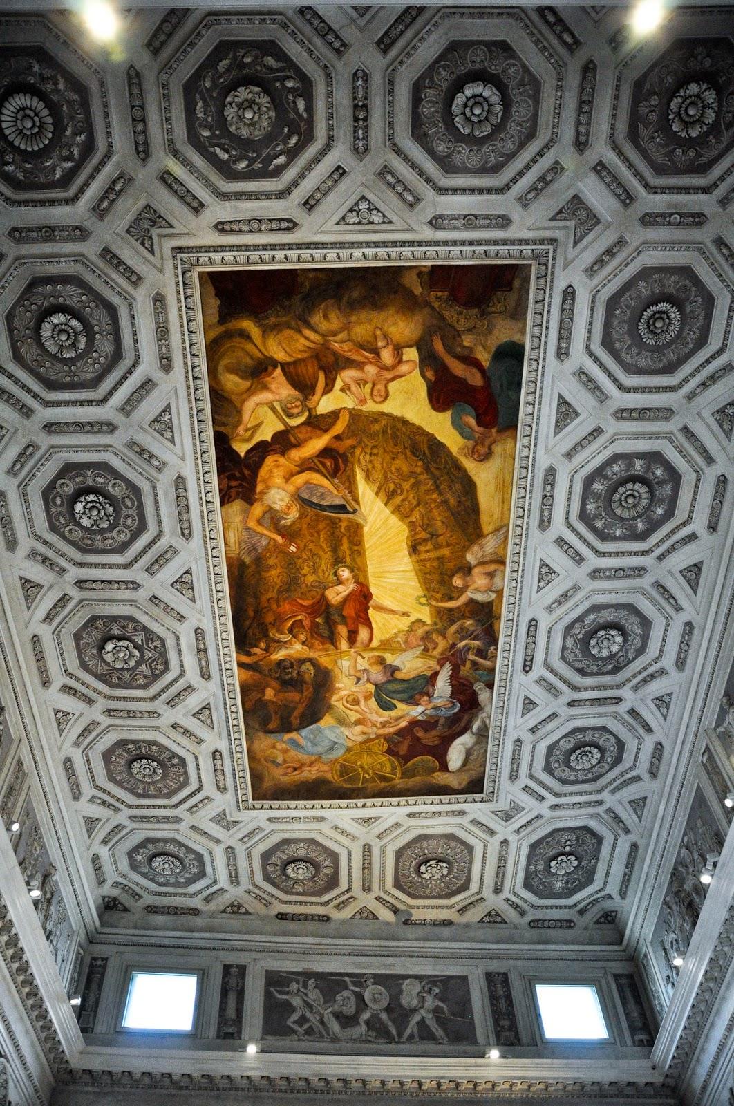 A ceiling in Palazzo Leoni Montanari, Vicenza, Italy