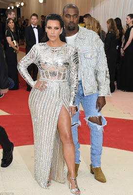 kim kardashian and kanye at the 2016 met gala