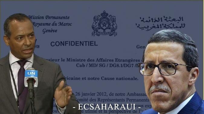 El actual embajador marroquí en la ONU señaló al diplomático saharaui Sidi Omar en secreto por movilizar la UA a favor del pueblo saharaui.