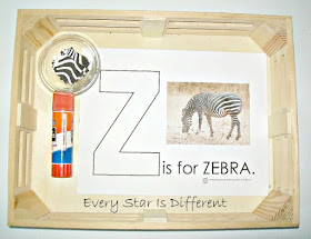 Z is for Zebra Activity for Kids with Free Printable