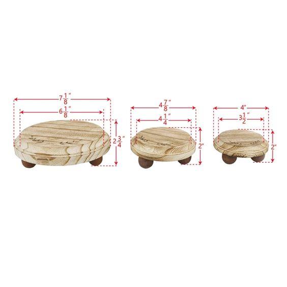 #WD3331-OK 3Pcs Set Wood Stackable Display Riser Stands
